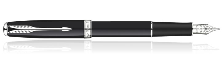 Parker Sonnet Fountain Pens in Matte Black CT