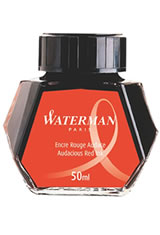 Waterman Bottled Ink(50ml) Fountain Pen Ink in Audacious Red