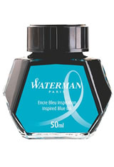 Inspired Blue Waterman Bottled Ink(50ml) Fountain Pen Ink