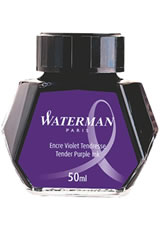 Waterman Bottled Ink(50ml) Fountain Pen Ink in Tender Purple