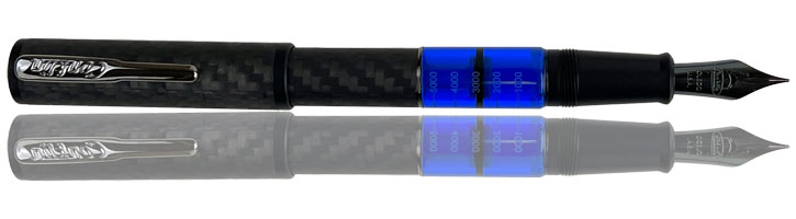Conklin Word Gauge Fountain Pens in Blue Carbon