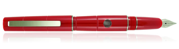 Delta Oblo Fountain Pen in Red with Stainless Steel Nib