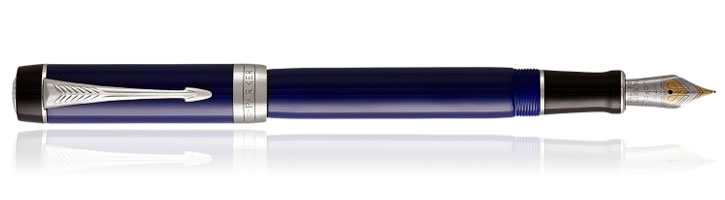 Parker Duofold International Fountain Pens in Blue Black CT