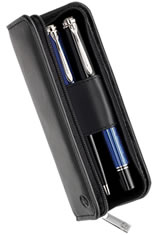 Pelikan Leather Pen Carrying Cases in Black Nappa