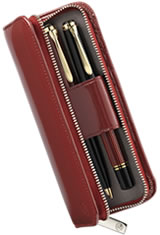 Pelikan Leather Pen Carrying Cases in Red