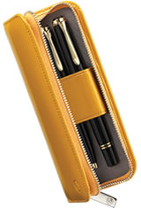 Pelikan Leather Pen Carrying Cases in Yellow