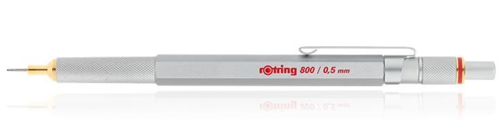 Rotring 800 Mechanical Pencils in Silver - 0.5mm