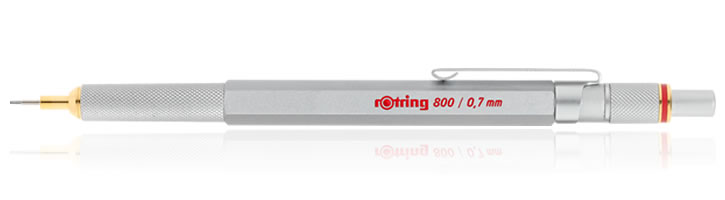 Rotring 800 Mechanical Pencils in Silver - 0.7mm