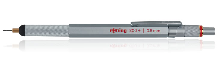 Rotring 800+ Mechanical Pencils in Silver - 0.5mm