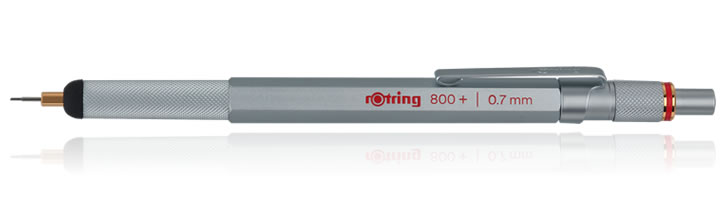 Rotring 800+ Mechanical Pencils in Silver - 0.7mm