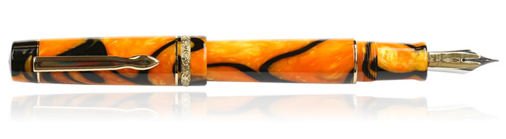 Delta Dolcevita Masterpiece Fountain Pens in Fusion - Gold Trim
