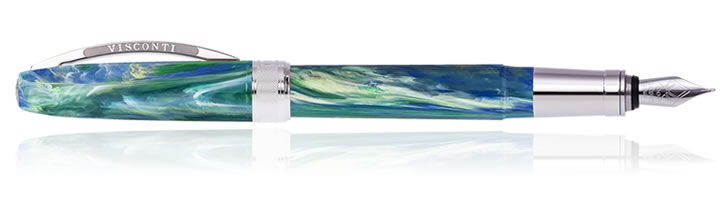 Visconti Van Gogh Fountain Pens in Wheatfield Under Thunderclouds
