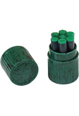 Visconti Ink Cartridge(7pk) Empty Ink Bottles in Green
