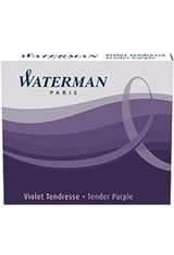 Waterman Short International Cartridge(6pk)  in Tender Purple