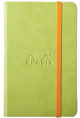 Rhodia Rhodiarama Memo & Notebooks in 5-1/2 X 8-1/4 - Anise/Lined