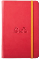 Rhodia Rhodiarama Memo & Notebooks in 5-1/2 X 8-1/4 - Poppy/Blank