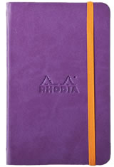 Rhodia Rhodiarama Memo & Notebooks in 5-1/2 X 8-1/4 - Purple/Blank