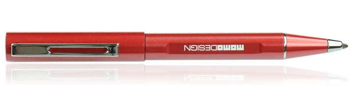 Delta Momo Design Alumina Ballpoint Pens in Red