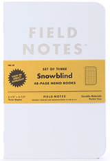 Field Notes Snowblind 3-Pack Memo Books & Notebooks