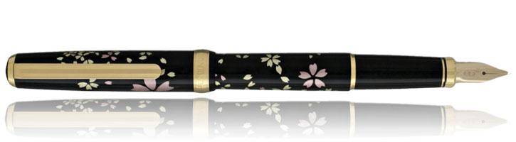 Cherry Blossom Platinum Modern Maki-e Fountain Pens