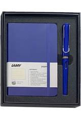 Lamy Gift Set Notebook & Safari Fountain Pens