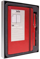 Lamy Gift Set Notebook & Safari Fountain Pens in Red - Red