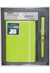 Lamy / Gift Set - Notebook & AL-Star Fountain Pens in Charged Green