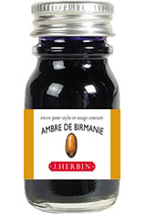 Ambre de Birmanie J Herbin Bottled Ink(10ml) Fountain Pen Ink