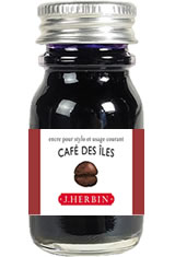 J Herbin Bottled Ink(10ml) Fountain Pen Ink in Cafe des Iles