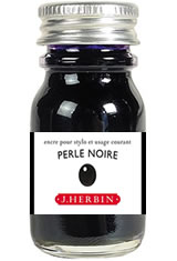 J Herbin Bottled Ink(10ml) Fountain Pen Ink in Perle Noire