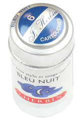 J Herbin Cartridge(6pk) Pen Care Supplies in Bleu Nuit