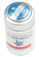 J Herbin Cartridge(6pk) Pen Care Supplies in Bleu Pervenche
