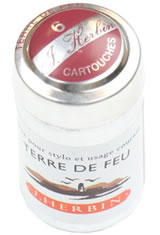 J Herbin Cartridge(6pk) Empty Ink Bottles in Terre De Feu