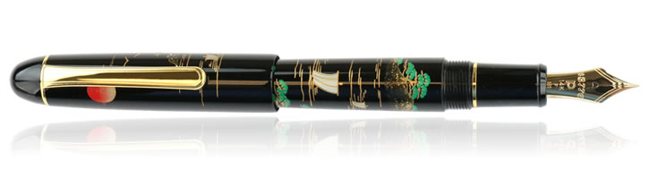 Platinum 3776 Maki-e Fountain Pens in Sansui