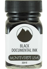 Monteverde Bottled Ink(30ml) Fountain Pen Ink in Black Permanent