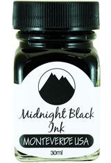 Monteverde Bottled Ink(30ml) Fountain Pen Ink in Midnight Black
