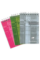 Random - 5-3/4 x 8-1/4 Clairefontaine Classic Top Wirebound Memo & Notebooks