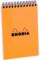 Rhodia A6 Spiral Memo & Notebooks in Orange