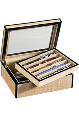 Venlo 10 Pen Display Cases in Blond