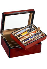 Venlo 10 Pen Display Cases in Burlwood