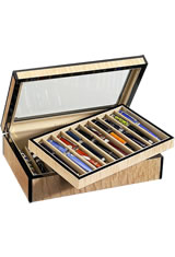 Venlo 20 Pen Display Cases in Blond
