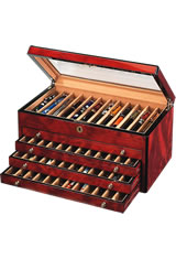 Venlo 60 Pen Display Cases in Burlwood