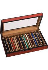Vox Luxury 12 Pen Display Cases in Rosewood