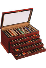 Vox Luxury 60 Pen Display Cases in Rosewood