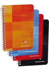 Clairefontaine A5 Classic Spiral Memo & Notebooks