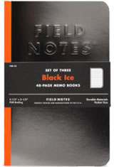 Field Notes Black Ice Memo & Notebooks
