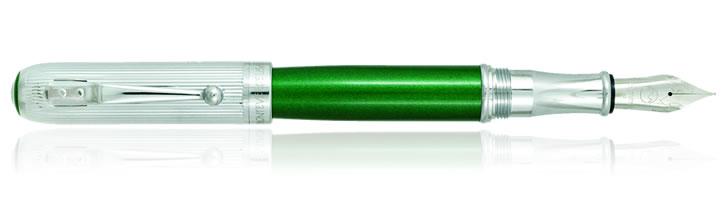 Green Stardust Monteverde Rodeo Drive Fountain Pens