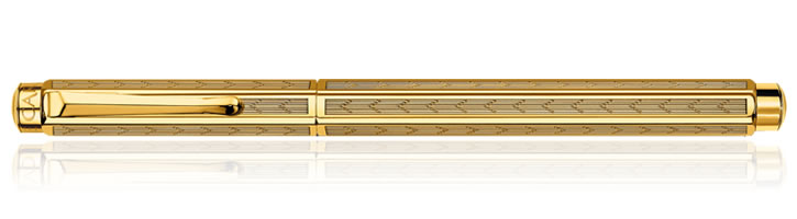 Caran d'Ache Ecridor Fountain Pens in Chevron Gold Plated
