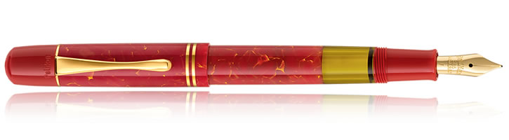 Pelikan M101N Bright Red Fountain Pens in Bright Red