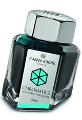 Caran d'Ache Chromatics (50ml) Fountain Pen Ink in Hypnotic Turquoise
